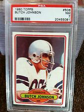 1980 TOPPS# 506 BUTCH JOHNSON PSA NM-7 CARD