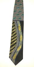 Impact Groove Thing Neck Tie Black Gold Blue Green Polyester Wide Short