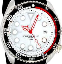 Vintage Seiko diver MERCEDES hands SWISS Quartz MOP dial Mod w/Genuine 7002 case