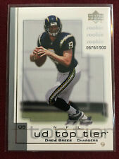 Dree Brees 2001 Upper Deck UD Top Tier 676/1500 New Orleans Saints