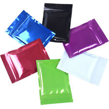 6 Colors Flat Mylar Foil Bags Food Aluminum Self Seal Gift Pouches Resealable
