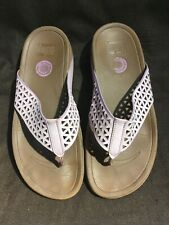 Fitflop Women's Pink Cut Out Design Thongs Size 9/40