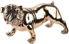 More details for 75cm life size british bulldog large statue electroplated copper polystone