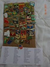 "U.S 50 States pin set lapel pins-Shiny Metal well made & ""WA. DC.""Nice Gift NEW!"