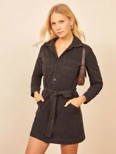 Brand new long-sleeved black Reformation Lydia Utility dress (XS, US size 2)