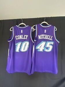 2 Utah Jazz Jerseys Bundle Donovan Mitchell Mike Conley Purple size LARGE (50)
