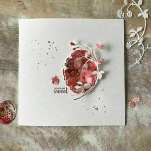 Strawberry Cane Stencil Metal Cutting Dies Scrapbooking Paper Craft Card Decor