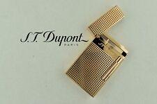NEW ST Dupont Ligne 2 Pink Gold Finish Square Pattern Lighter ST016424
