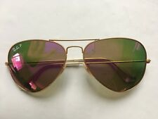 VTG Vintage Ray Ban RB3025 Aviator Large Metal Cyclamen Flash Polarized