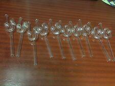 Set á 10 Stück Glas Gärrohr  20cm lang - Gärröhrchen / Gäraufsatz - Bier