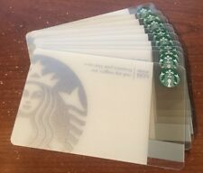Lot of 10 Silver 40th Anniversary (2011) Collectible Starbucks Gift Card #6066