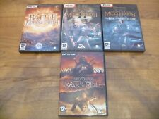 LOTR BATTLE FOR MIDDLE EARTH II 2 ANTHOLOGY PC-DVD ( earth 1 & 2 + witch king )