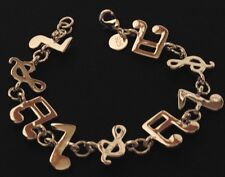 Music Notes 925 silver Chain Link Bracelet