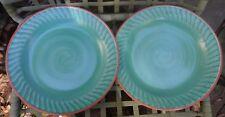 "Vintage Fioriware Jardinware Zanesville Ohio Art Pottery 11-1/2"" Dinner Plates 2"