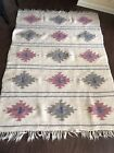 Vintage Hand Woven Mohair Wool Rug Tribal Southwestern Made In Greece 5x7ft