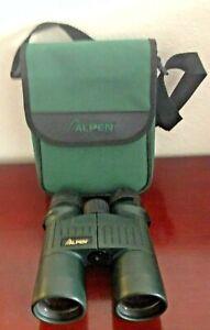 ALPEN APEX BAK4 8X42 PHASE COATED WATERPROOF DARK GREEN BINOCULARS W/CASE. WORKS