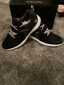 Footjoy Flex Golf Shoes - Black/White - 9 UK Medium