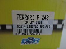 BBR 1/43 FERRARI F 248 GP USA 2006 248 F1 RECORD GP BUILT MODEL BG314 LIM.ED.