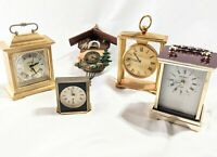 Vintage Swiss German Clock Lot Howard Miller Coo Coo Seth Thomas Japan Swiza