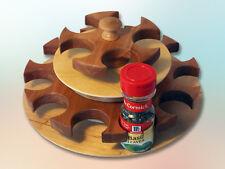 Quality Handmade 16 Station Rotating Spice Rack