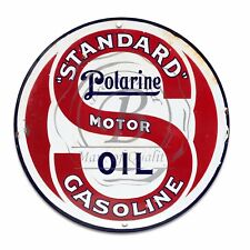 Vintage Design Sign Metal Decor Gas and Oil Sign - Standard Polarine Gasoline