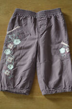 Designer At Debenhams Embroidered Baby Girls Trousers 6-9 Months...100% Cotton