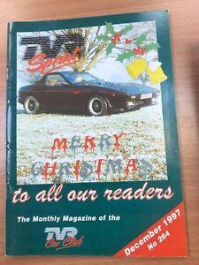 TVR Car Club Sprint Magazine December 1997 Issue No 264 T350i Merry Christmas