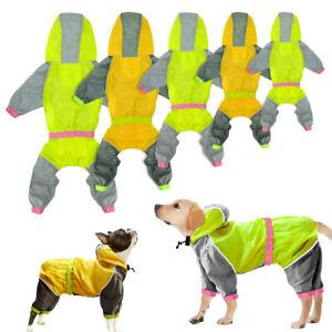 Reflective Dog Rain Coat Waterproof Hoodie Rain Clothes Small Large Dog Raincoat