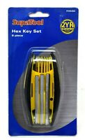 HEX / ALLEN KEY 8 PIECE FOLDING TOOL SET 1.5mm - 6mm SOFT TOUCH FINISH