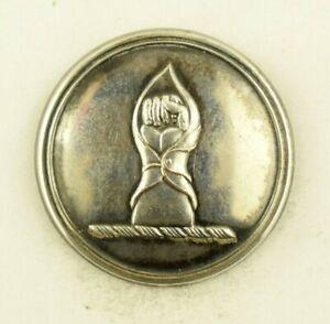 1810s-60s Livery Fist Hand Gauntlet Uniform Button Original F4BT