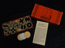 Vintage World War II bottoms up pig dice/checkers game!