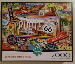 Buffalo Jigsaw Puzzle 2000 pieces Route 66 book