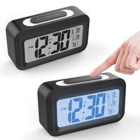Digital Spiegel Wecker Alarm Uhr Alarmwecker LED Tischuhr Snooze Nachtsicht DE