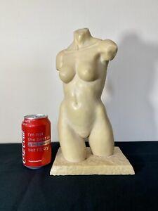 nude female torso statue by Alec Wiles
