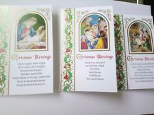 Christmas Cards Pack 10 Xmas Cards Smaller Nativity Scene 3 Different Designs
