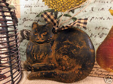 CAT Beeswax Blackened Cinnamon Scented Folk Art PRiMiTiVE Ornie FREE SHIPPING