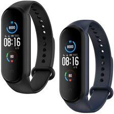 [2-Stück]Silikon Armband Sport Uhrenarmband Strap Ersatz für Xiaomi Mi Band 5