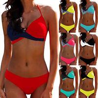 Women Padded Push-up Bra Bikini Set Holiday Beach Bathing Suit Swimwear Seaside