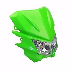 Green 35W Off Road Dirt Bike Headlight For KDX 220R KLX DRDS YZ XT DT  SX KX