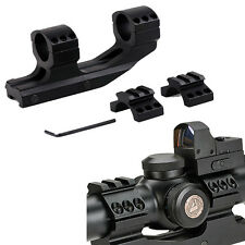 Tactical Cantilever Flat Top Dual Ring Scope Quick Release Rail Picatiiny Mount