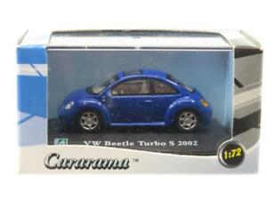 Cararama Hongwell VW Volkswagen Beetle Turbo S 2002 Blue 1 72 Scale Boxed