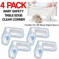 4x Clear Rubber Furniture Corner Edge Table Cushion Guard Protector Baby Safety