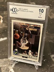 1992 Classic #1 Shaquille O'Neal Pre Rookie BCCG Beckett 10 Mint or Better HOT