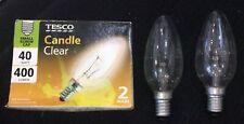 2 40watt 400 Lumen Small Screw Traditional Clear Candle Light Bulbs