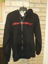 Oakley Mens Full Zip Black w/ Red Graphic Hoodie Sweatshirt Jacket S New $60