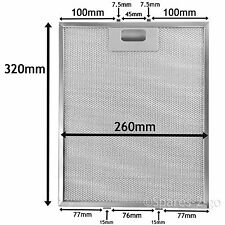 Metal Mesh filter For AEG BAUMATIC Cooker Hood Extractor Vent Fan 320 x 260 mm