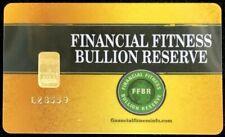 Financial Fitness Bullion Reserve Gold 1 Gram 9999 Fine Sealed Bar Nadir Assayer