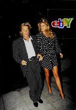 ROD STEWART and RACHEL HUNTER  Go Dotty - Original 8x10 photo - Matted - 1991