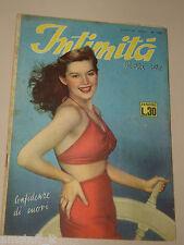 INTIMITA rivista 8 LUGLIO 1949 n. 176 storie vere confidenze di cuori ROMANZO