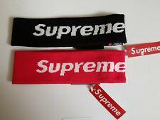 LOT OF 2 SUPREME New Era Headband Red & Black - New W/ Tags